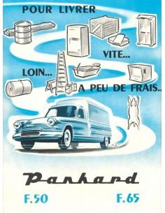 1960 PANHARD PL17 F50 & F65 BROCHURE FRANS