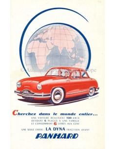 1956 PANHARD DYNA PROSPEKT FRANZÖSISCH