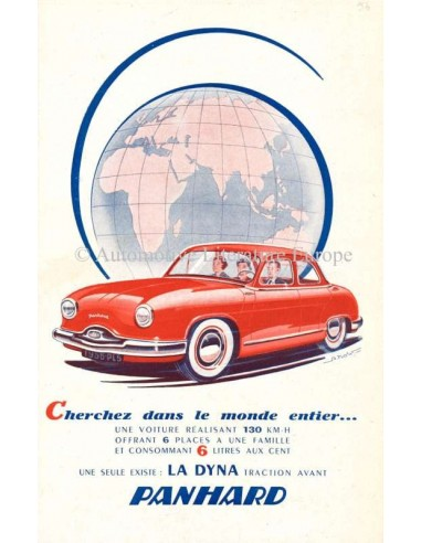 1956 PANHARD DYNA BROCHURE FRENCH