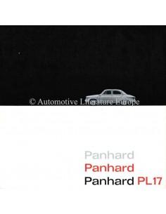 1960 PANHARD PL17 BROCHURE NEDERLANDS