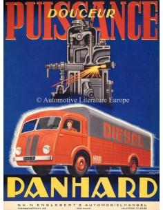 1947 PANHARD TRUCK DIESEL ENGINE BROCHURE DUTCH