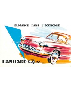 1960 PANHARD PL17 BROCHURE FRENCH
