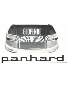 1962 PANHARD PL17 KOFFERRAUM GEÖFFNET PROSPEKT NIEDERLÄNDISCH