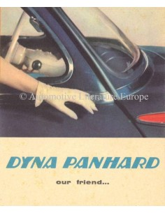 1954 PANHARD DYNA PROSPEKT ENGLISCH