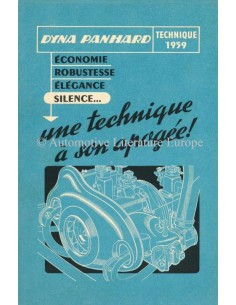 1959 PANHARD DYNA PROSPEKT FRANZÖSISCH