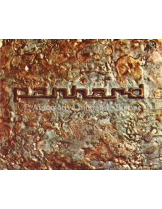1963 PANHARD 17 & CD RANGE BROCHURE FRENCH