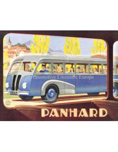 1947 PANHARD IE24 & IE21 AUTOBUS PROSPEKT FRANZÖSISCH