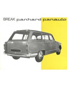1963 PANHARD 17 BREAK BY PANAUTO BROCHURE FRENCH
