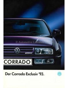 1993 VOLKSWAGEN CORRADO VR6 EXCLUSIV PROSPEKT NIEDERLÄNDISCH