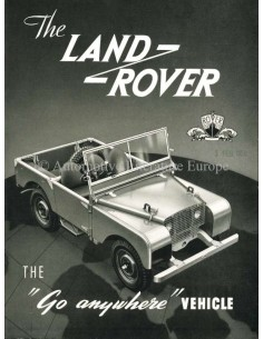 1952 LAND ROVER SERIES 1 BROCHURE ENGELS