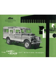 "1956 LAND ROVER SERIES 1 107"" STATION WAGON BROCHURE ENGELS"