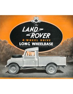 1955 LAND ROVER SERIES 1 4-WHEEL DRIVE LONG WHEELBASE BROCHURE ENGELS