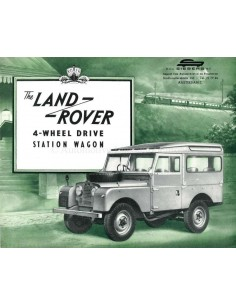 1955 LAND ROVER SERIES 1 4-WHEEL DRIVE STATION WAGON BROCHURE ENGELS
