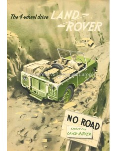 1954 LAND ROVER SERIES 1 4-WHEEL DRIVE BROCHURE ENGELS