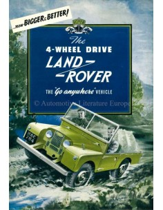 "1954 LAND ROVER 86"" SERIES 1 BROCHURE ENGELS"