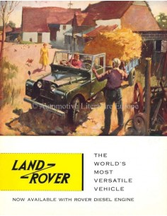 1958 LAND ROVER SERIES 1 PROGRAMMA BROCHURE ENGELS