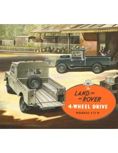1954 LAND ROVER SERIES 1 4-WHEEL DRIVE BROCHURE NEDERLANDS