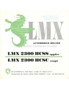 197? LMX 2300 HCSS SPYDER / HCSC COUPE BROCHURE