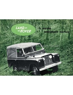 1957 LAND ROVER SERIES I BROCHURE NEDERLANDS