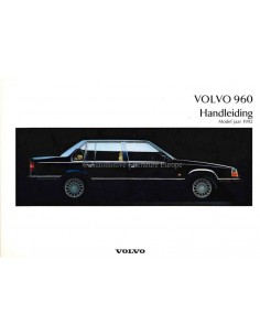 1992 VOLVO 960 OWNERS MANUAL DUTCH