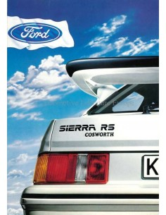 1986 FORD SIERRA RS COSWORTH BROCHURE DUITS