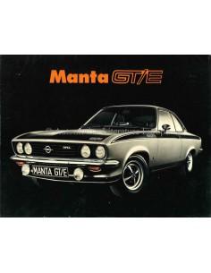 1974 OPEL MANTA GT/E BROCHURE NEDERLANDS