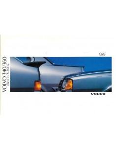 1989 VOLVO 340/360 BETRIEBSANLEITUNG ENGLISCH