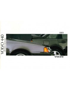 1989 VOLVO 440 OWNERS MANUAL ENGLISH