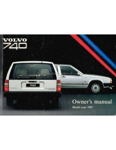 1987 VOLVO 740 OWNERS MANUAL ENGLISH