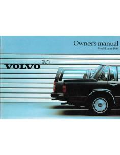 1986 VOLVO 760 BETRIEBSANLEITUNG ENGLISCH