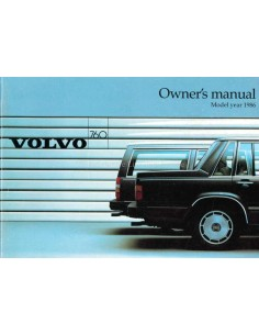1986 VOLVO 760 OWNERS MANUAL ENGLISH
