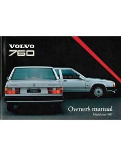 1987 VOLVO 760 BETRIEBSANLEITUNG ENGLISCH