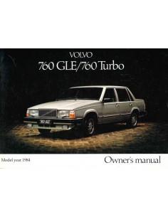 1984 VOLVO 760 GLE / 760 TURBO BETRIEBSANLEITUNG ENGLISCH
