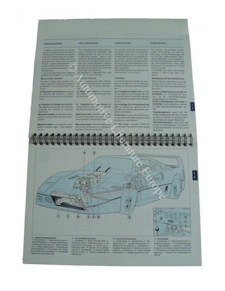 1990 FERRARI F40 INSTRUCTIEBOEKJE 610/90