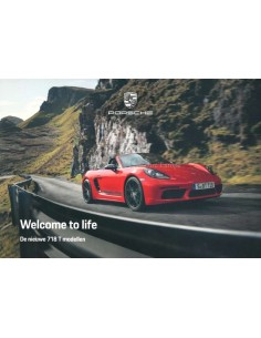 2018 PORSCHE 718 BOXSTER / CAYMAN HARDCOVER BROCHURE DUTCH