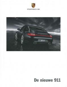 2008 PORSCHE 911 CARRERA HARDCOVER PROSPEKT NIEDERLÄNDISCH