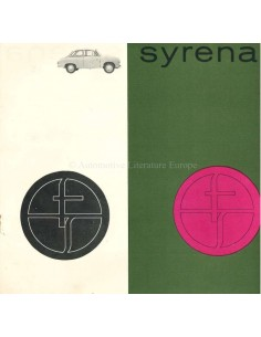 1966 FSO SYRENA 104 BROCHURE POLISH