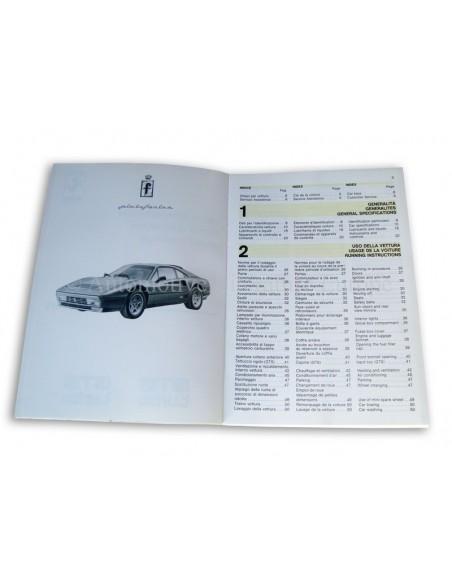 1988 FERRARI TURBO GTB & GTS INSTRUCTIEBOEKJE 494/88