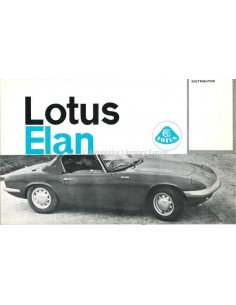 1962 LOTUS ELAN BROCHURE ENGELS