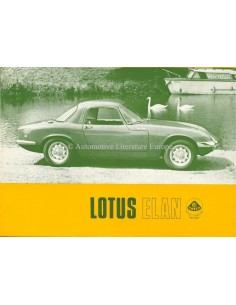 1967 LOTUS ELAN BROCHURE ENGLISH