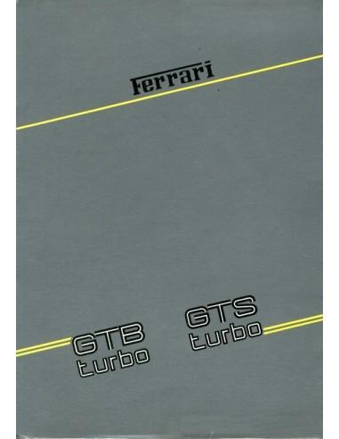 1986 FERRARI TURBO GTB & GTS INSTRUCTIEBOEKJE 429/86