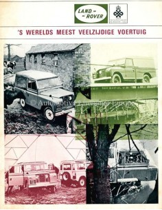 1970 LAND ROVER SERIES IIA BROCHURE DUTCH