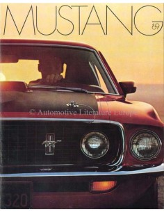 1969 FORD MUSTANG BROCHURE ENGELS (USA)