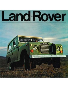 1973 LAND ROVER SERIES III BROCHURE ENGLISH