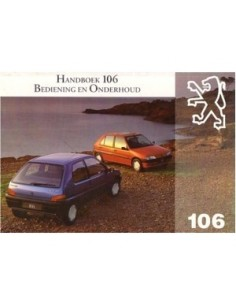 1993 PEUGEOT 106 OWNERS MANUAL HANDBOOK FRENCH DUTCH