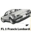 1972 FRANCIS LOMBARDI FL1 BROCHURE ITALIAN