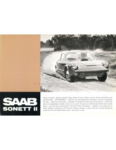 1967 SAAB SONETT BROCHURE ENGLISH