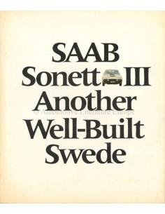 1970 SAAB SONETT PROSPEKT ENGLISCH (USA)