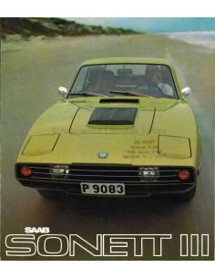1970 SAAB SONETT BROCHURE ENGLISH (US)