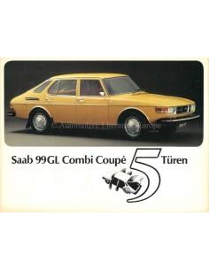 1976 SAAB 99GL COMBI COUPÉ BROCHURE GERMAN